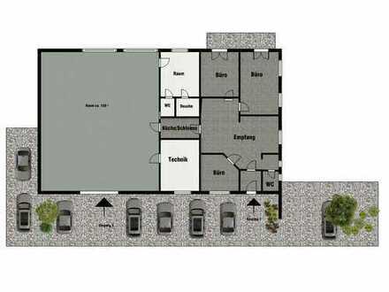 Freistehendes Bürohaus, Praxis, Lager, Halle in bester Lage mit Stellplätzen zu vermieten