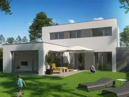 Freistehendes Einfamilienhaus in L-Form