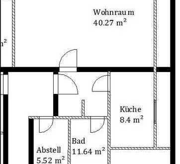 Frisch renovierte 1 ZKB Wohnung in zentraler Lage