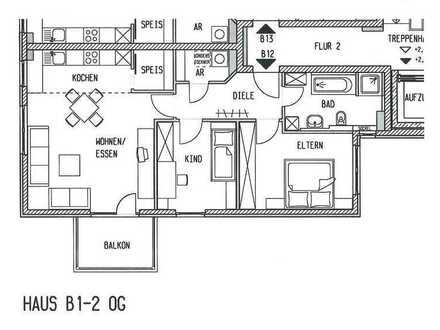 Helle 3-Zimmer-Wohnung mit Balkon in Mindelheim