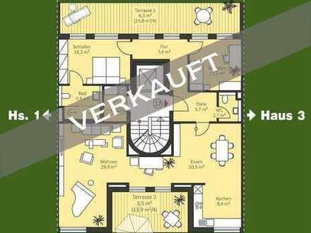 Großzügige 4 Zi. Neubau Penthouse-Wohnung (nicht barrierefrei)