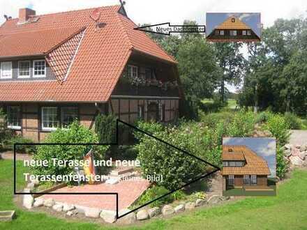Attraktive Fachwerk-Doppelhaushälfte mit fünf Zimmern in Gifhorn (Kreis), Groß Oesingen