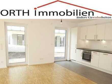 3 Zimmer Erdgeschoss Terrassenwohnung mit EBK + Parkett + Fußbodenheizung