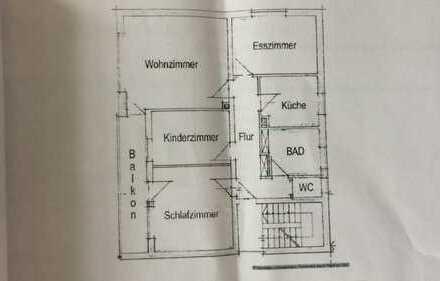 Gepflegte 4-Zimmer-Wohnung mit Balkon und Einbauküche in Wertingen