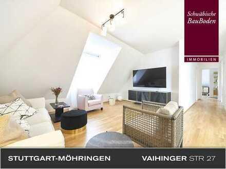 Attraktive, helle und hochwertige 3 Zi. Dachgeschoss-Wohnung, Balkon, Aufzug, EbK, TG-Stellplatz +++
