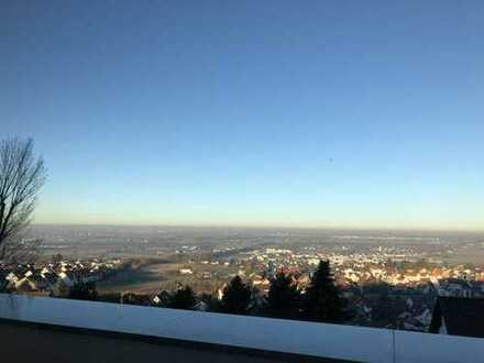 Weinheim Höhenlage mit sensationellem Blick in die Rheinebene