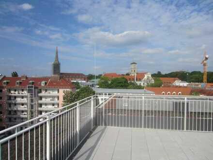 Einmaliges Wohnerlebnis mit Dachgarten mit Blick über München