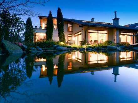 Luxus Villa mit Einliegerwohnung in baubiologischer Bauweise erstellt in traumhaft ruhiger Lage