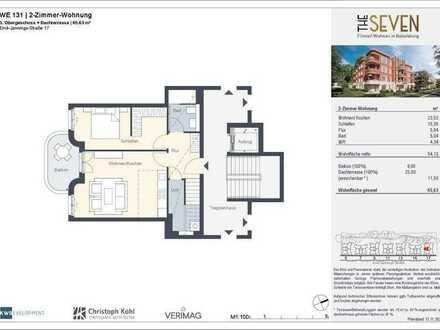2-Zimmer-Wohnung mit privater Dachterrasse