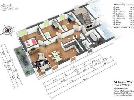 D3 Helle großzügige 4,5 Zimmer-Wohnung mit Balkon