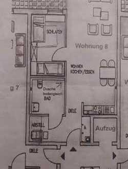 Stadtnahe 2,5 Zi.-Single-Wohnung (barrierefrei/ rollstuhlger. m. Fahrstuhl + Balkon) zu vermieten