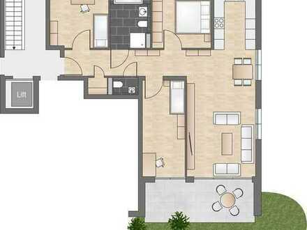 Großzügige 4-Zimmerwohnung mit modernem Grundriss und eigenem Garten