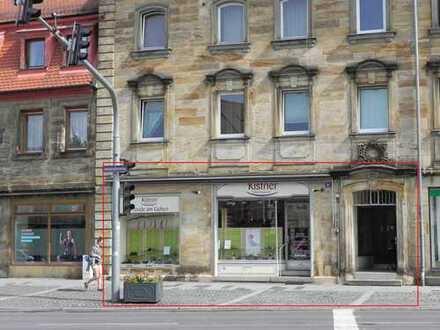 Repräsentative Ladeneinheit mit Hinterhof im Zentrum zu vermieten!