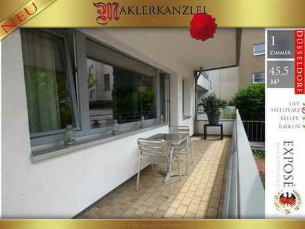 +++ NEU +++ Verlängerung zur Königsallee Appartement mit großem Sonnenbalkon; zur Rückseite gelegen