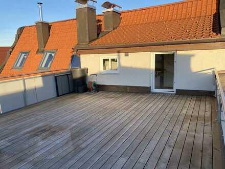 Schöne Dachterrasse mit Wohnung in Kempten (Allgäu), Innenstadt