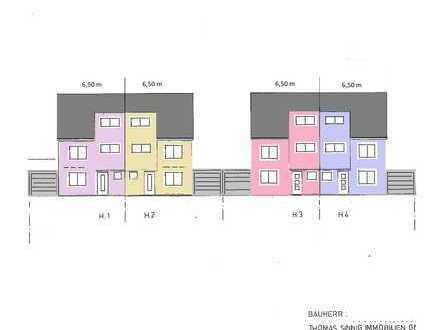Feines Grundstück bebaubar mit 4 Doppelhaushälften und 4 Garagen