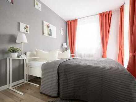 WG-taugliche 2-Zimmer-Whg, Küche, Bad, Balkon, Stellplatz im Stühlinger, voll möbliert