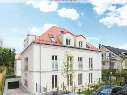 Erdgeschoss-Neubauwohnung. In zeitlos moderner Stadtvilla.