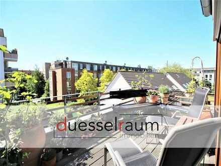 Bilk: Moderne 4-Zimmer-Maisonettewohnung mit Dachterrasse, EBK und TG-Stellplatz