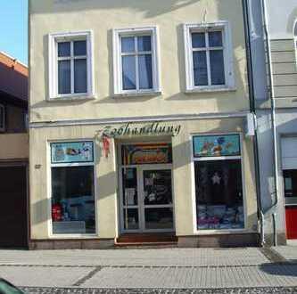 Gewerbeobjekt mit Wohnung direkt im Stadtzentrum von Burg (Miete möglich)