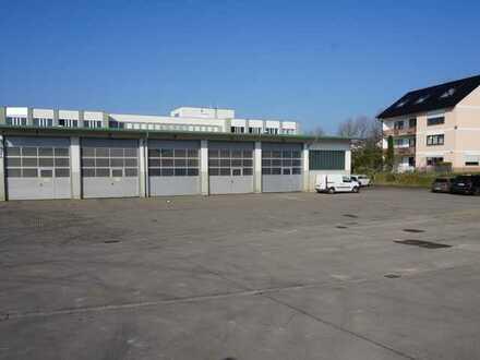 Im Alleinauftrag: Gewerbehalle mit Außenfläche bei Aschaffenburg zu vermieten ab 1.1.22