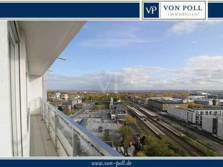 VON POLL - BAD HOMBURG: Vier-Zimmer-Wohnung mit Lift, Garage und Skylineblick
