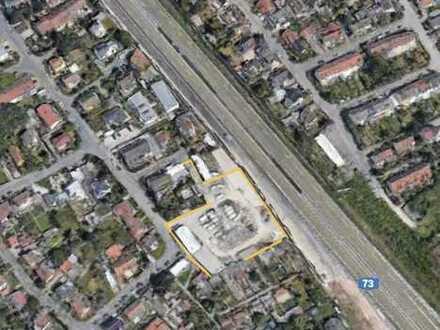 Gewerbegrundstück mit Halle und Büro in Erlangen-Bruck zu vermieten! Einzug nach Sanierung!