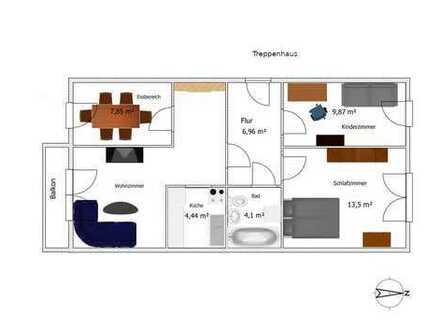 Nachmieter mit mindestens 1.800 Nettoeinkommen für Vier Zimmer Wohnung in Potsdam, Schlaatz gesucht