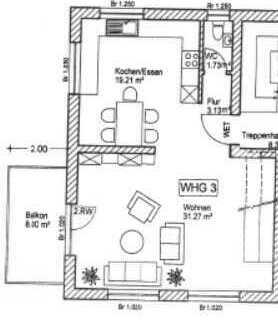 Eine Wohnung für die ganze Familie
