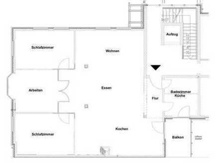 130 m² LOFT Wohnung – Aufzug – barrierefrei – Bad Schwartau Zentrum