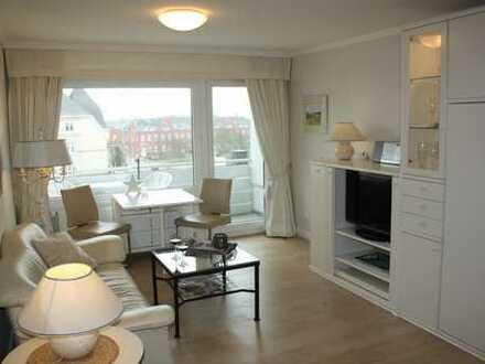 Stilvolle, geräumige und gepflegte 1-Zimmer-Wohnung mit Balkon und Einaukücheküche in Westerland