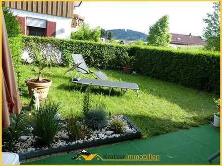 Helle, sonnig gelegene 2-Zi.-EG-Whg. mit Terrasse, Garten, TG und KFZ-Stellplatz in Wiggensbach