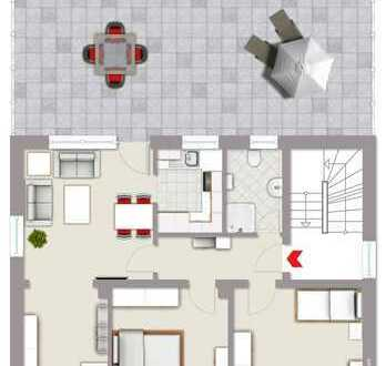 TOP! Gepflegte 3-Zimmerwohnung in Stadtnähe mit großer 56 m² Terrasse und Stellplatz