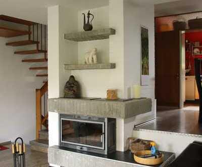 1 Familienhaus + Garage + Balkon + Kamin