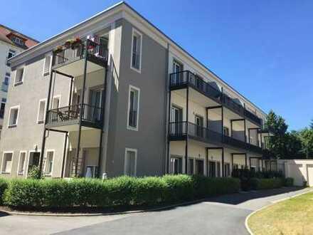 Tolle 2-Raum Wohnung mit Balkon, FB-Heizung, Aufzug, Keller, Stellplatz in TOP-Lage zentrumsnah