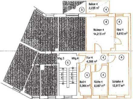 Wohnen in der Wunderburg 2 1⁄2 Zimmer, modernisiert mit Balkon