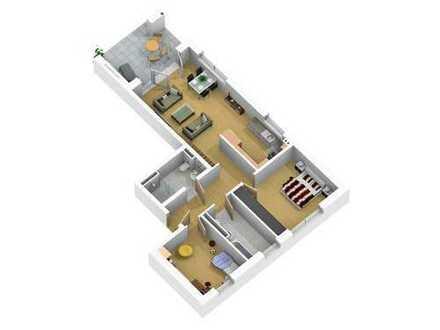 Erstbezug, 3 Zimmer-Whg. im Erdgeschoss mit Terrasse, Aufzug, TG-Stellplatz und Hausmeisterservice