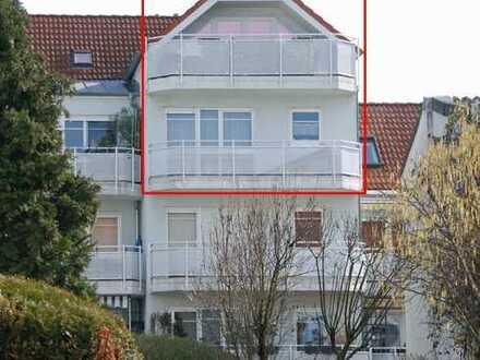 Hervorragend konzipierte 4-Zimmer- Maisonettewohnung mit 2 Balkonen in angenehmer Vorort-Wohnlage