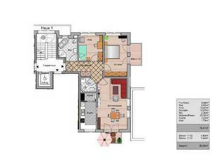 3-Zimmerwohnung, 1.OG, m. 2 Balkonen
