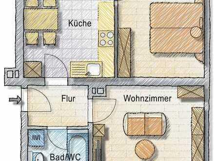Altbauwohnung - 2-Zimmer - große Küche