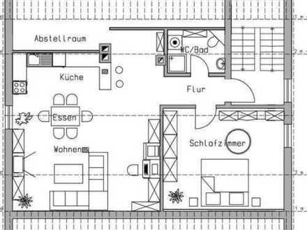 Erstbezug mit Einbauküche: moderne 2-Zimmer-Dachgeschosswohnung in Windischeschenbach