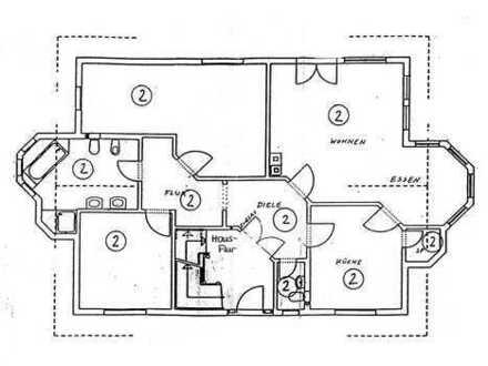 Gehobene 3-Zimmer-EG-Wohnung mit Küche und großer Terrasse in Borsdorf OT Panitzsch