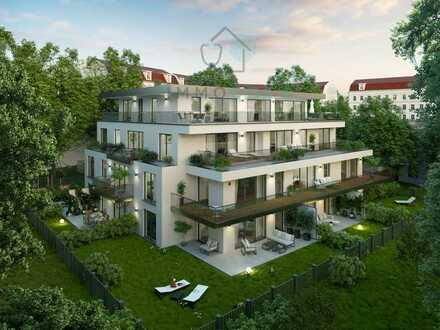Ruhige Innenstadtlage: Helle 2-Zimmer-Neubauwohnung mit großzügigem Garten