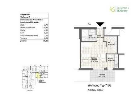 Neubauwohnung im Wohnquartier Davert (WBS) Whg. 7