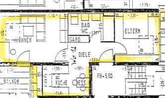 Gepflegte Wohnung mit zwei Zimmern sowie Balkon und EBK in Herrenberg-Gültstein