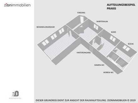 Hochwertig sanierte Praxis oder Bürofläche mit zwei PKW-Stellplätze in Düsseldorf-Holthausen