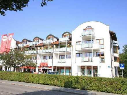 HAUSER IMMOBILIEN: Chices 1-Zi-Appartment in Puchheim/Bhf. mit EBK + Parkett + sonnigem Südbalkon