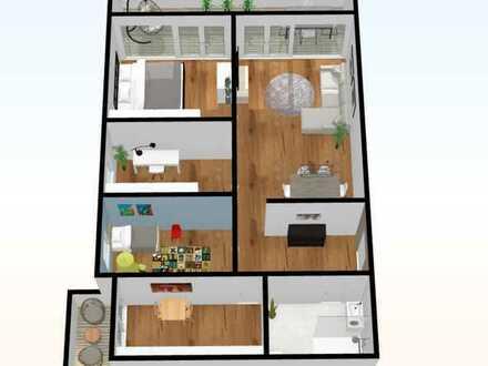 4-Raum-Wohnung mit herrlichem Balkon und Einbauküche in Ingolstadt Haunwöhr