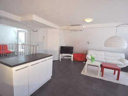 Dachwohnung, möbliertes 3-Zi-Apartment, S-Süd, Airconditon, warm 1667€, U1, U9 Böblingerstr.107