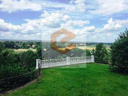 Grandioser Ausblick über die Elbe in exklusiver Lage mit sonnigem Gartengrundstück!